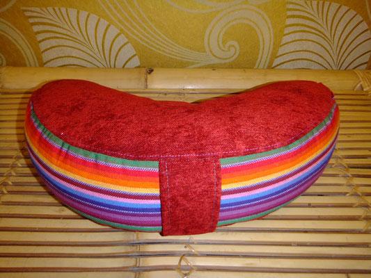 Yoga, Meditationskissen, Mond mit Griff, 54 euro, Rot, Regenbogen