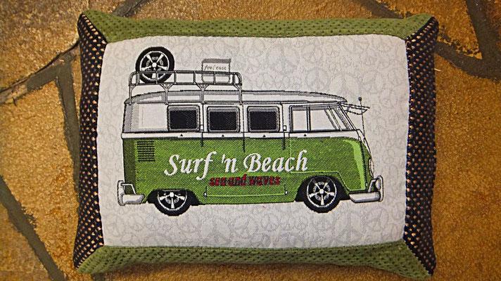 VW Bus Kissen Grün