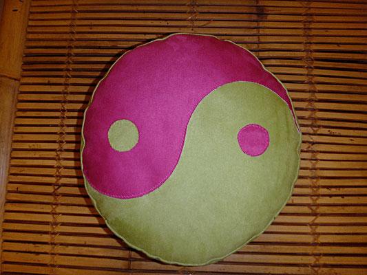 Yogakissen, Meditationskissen, Ying und Yang grün, rund, 54 euro