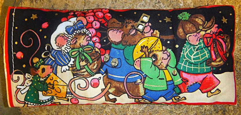 Tröstekissen, Mausfamilie, mit abnehmbarem Baumwollbezug