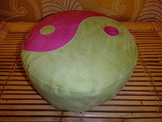 Yogakissen, Meditationskissen, Ying und Yang, grün, rund, 54 euro