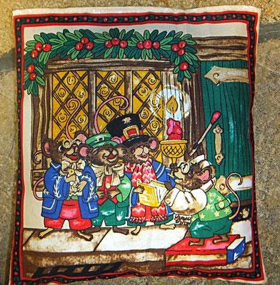 Tröstekissen, Mausfamilie , mit abnehmbarem Baumwollbezug