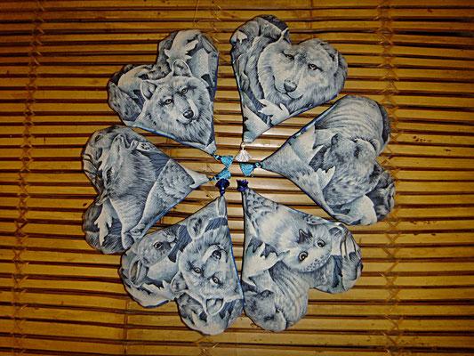 Herzkissen mit Lavendel, Tierwelt, Duftkissen, Handgelenkstütze am PC, 12 euro