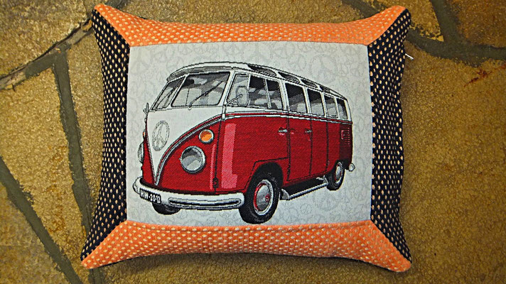 VW Bus, Kissen,  Rot, Bulli Kissen, Gudwork Frankfurt