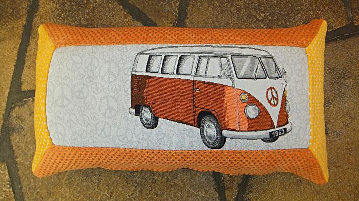 VW Bus,  Kissen,  Orange, Bulli Kissen, Gudwork Frankfurt