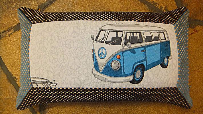 VW Bus, Kissen,  Blau, Bulli Kissen, Gudwork Frankfurt
