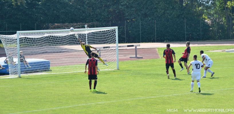 2014-15 DERTHONA-ARGENTINA  SIMONE BAUDINELLI SIGLA L'1-0