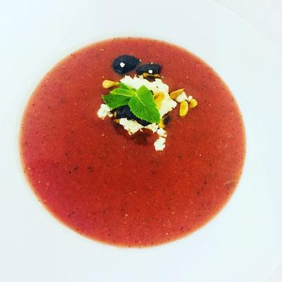 Erdbeer-Wassermelonen-Gazpacho
