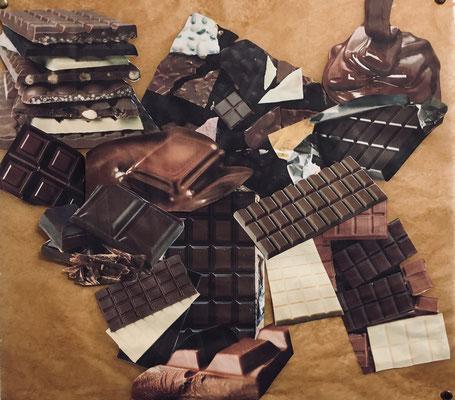 """Collage zu """"Charlie und die Schokoladenfabrik"""""""