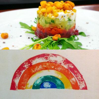 © Jim Dine: Rainbow trifft auf meinen Schichtsalat