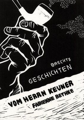 Brechts Geschichten vom Herrn Keuner: Cover (Linolschnitt, Bütten)
