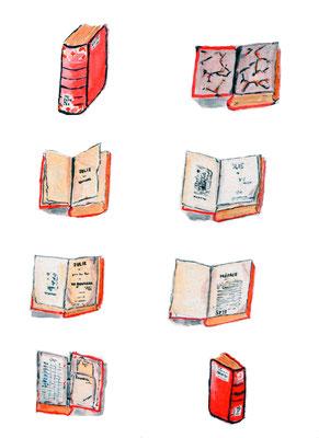 Book in Rutherford Library (Julie ou La Nouvelle Hélōise, by J-J. Rousseau)