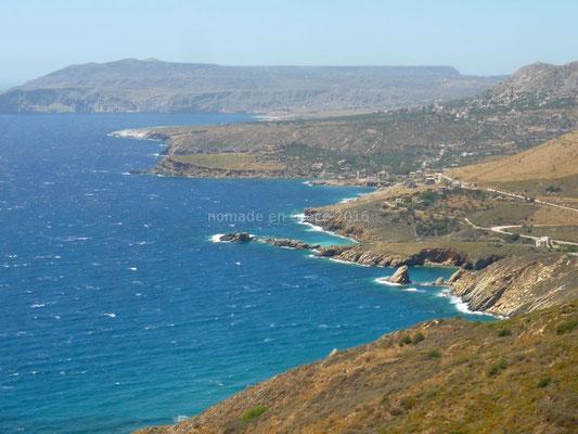 La côte aux alentours du Cap Tainaro