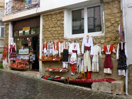 Boutique de vêtements traditionnels macédoniens.