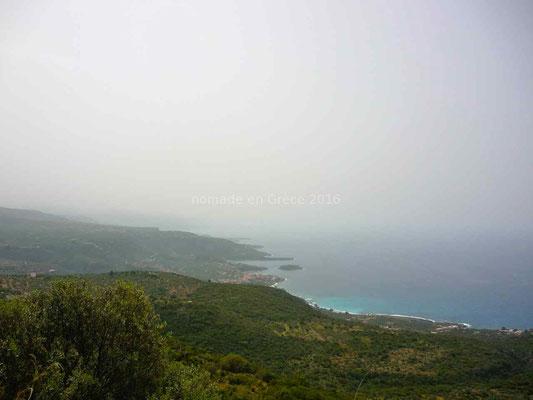 La brume empêche de profiter des paysages