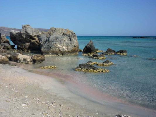 Elafonissi et son sable rose