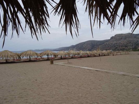 La plage de Paléochora.