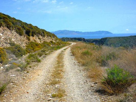 La route de Paleochora se termine en piste
