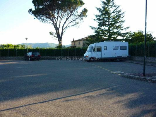 Anghiari, aire de camping-cars