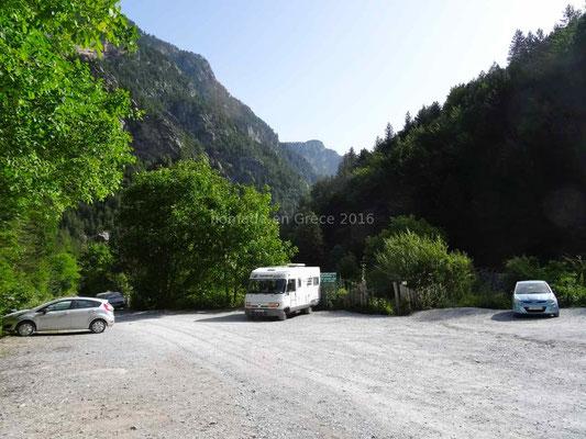 Parking du chalet Prionia