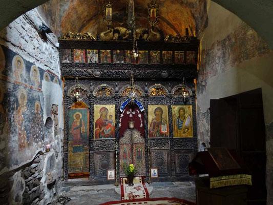 Intérieur de la chapelle Saint Nicolas.