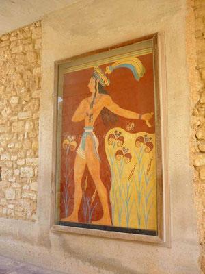 Fresque dite « Prince aux lis »