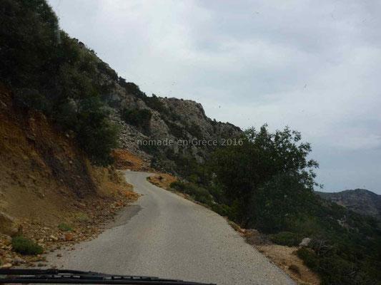 La route entre Paleochora et Sougia.