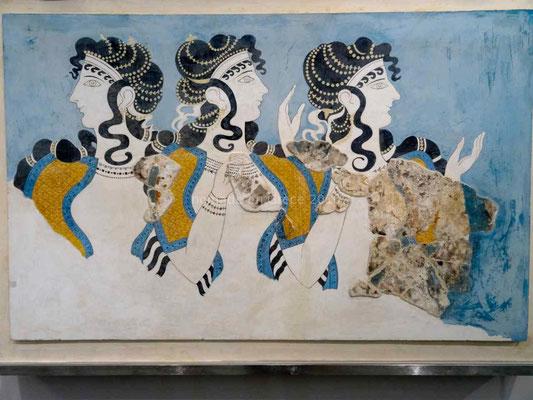 Musée d'Héraklion, Dames en bleu