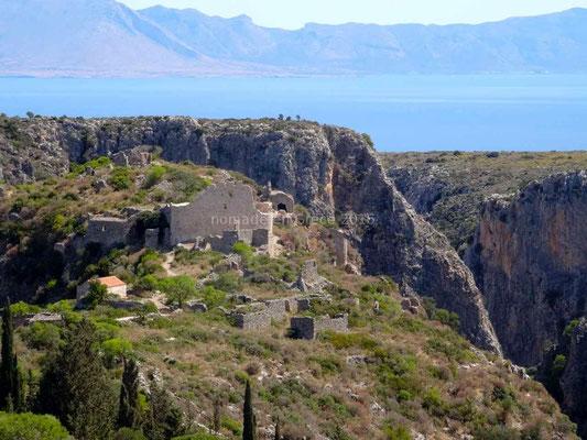 Les ruines de Paleochora
