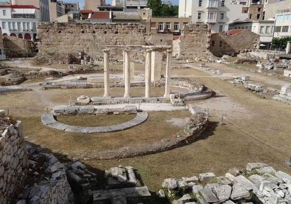 Vestiges au centre d'Athènes