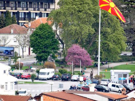 A Ohrid nous sommes stationnés en plein centre ville