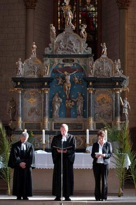 Liturgie: Pfr. Uli Biskamp, Dekan Burkhard zur Nieden, Dr. Gütter
