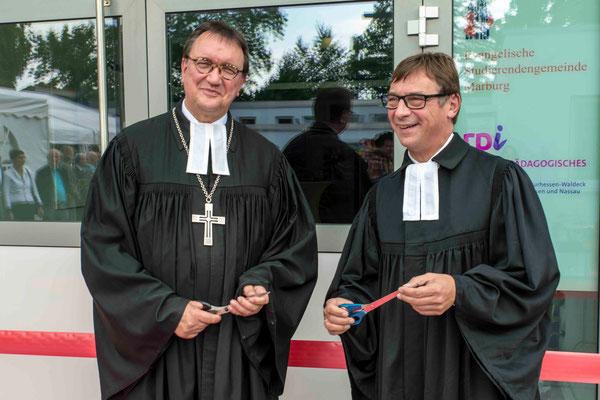 Bischof Hein und Kirchpräsident Jung