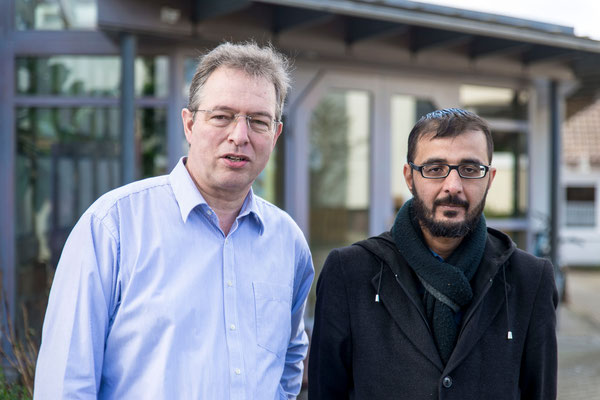 Pfarrer Wilhelm Hamman (Goßfelden) und Mehmet Kirok verstehen sich gut