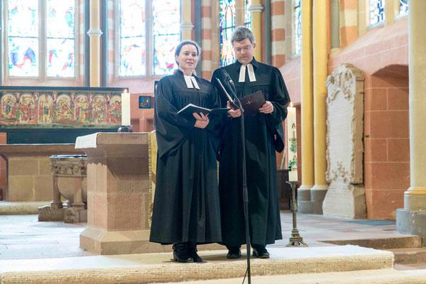 Pfarrerin Svenja Neumann und Pfarrer Dr. Matthias Franz