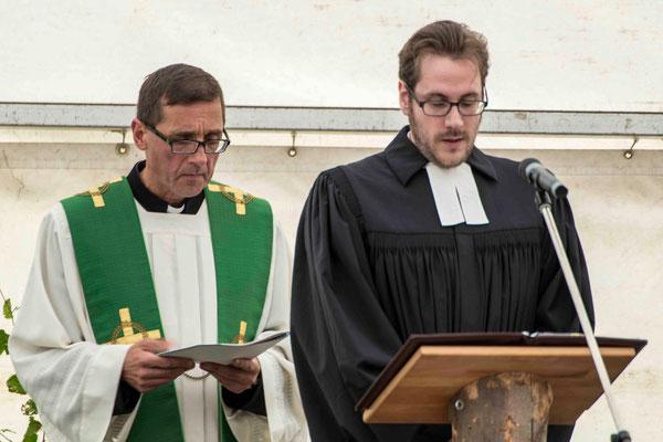 Pater Norbert Rasim (Wetter) und Pfarrer Matthias Bringmann (Kirchlotheim)