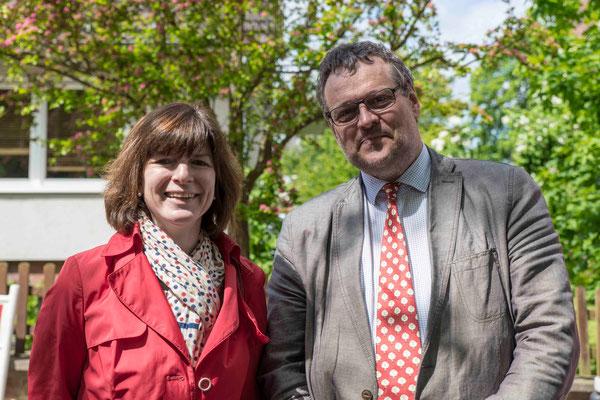 Ehemalige: Pfarrerin Dr. Constanze Thierfelder und Dekan Dr. Frank Hofmann