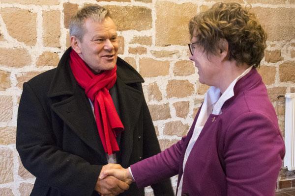 Oberbürgermeister Dr. Thomas Spies und Bischöfin Prof. Dr. Beate Hofmann