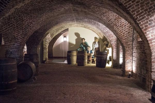 Die Old Exchange & Provost Dungeon wurde zeitweise als Gefängnis genutzt. Heute ein Museum.