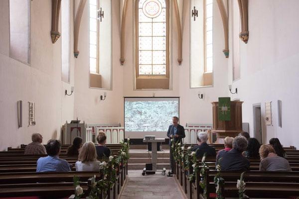 Pfarrer Bernd Kappes rief zur Grünen Reformation auf