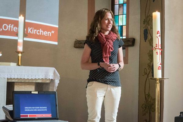 Nina Weteman koordinierte das Projekt und stellte es vor
