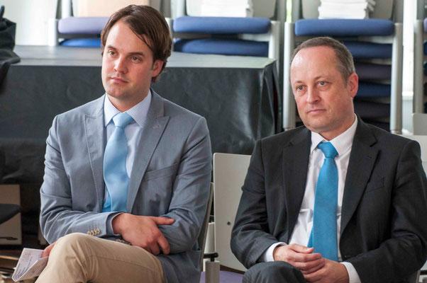 Peter Schüz und Dr. Gerhard Neumann
