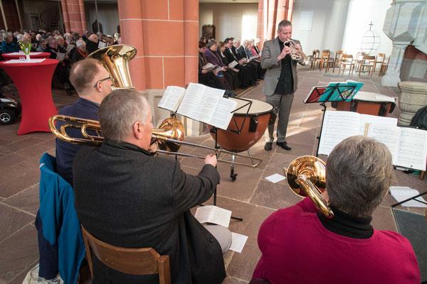 Der Posaunenchor der Homberger Kirchengemeinde begleitete den Gottesdienst