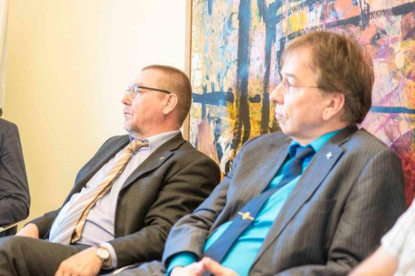 Oberlandeskirchenrat Dr. Eberhard Stock, Pfarrer Dr. Michael Dorhs
