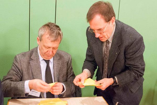 Auszählung der Stimmen: Hans-Peter Kovács, ManfredMeister