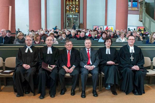 Pfr. Oliver, Okun, Pfr. Günter Engemann, Kirchenälteste Jörg Reichhart und Hans Pohlmann, Brinke-Kriebel, Hein