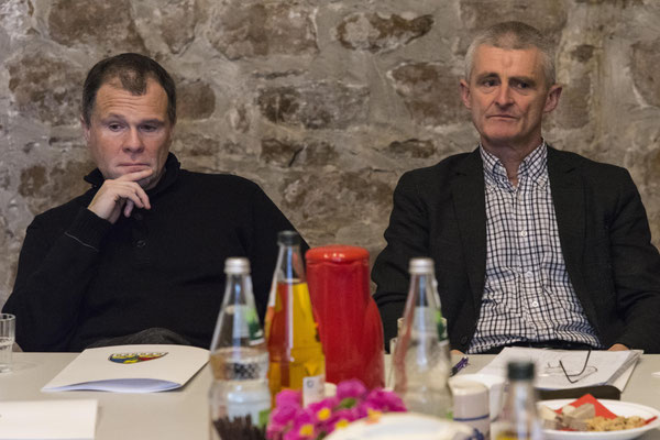 Architekt Christoph Irgang und Pfarrer Uli Biskamp