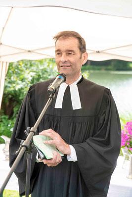 Begrüßung durch Pfarrer Dierk Brüning (Schwabendorf-Bracht)