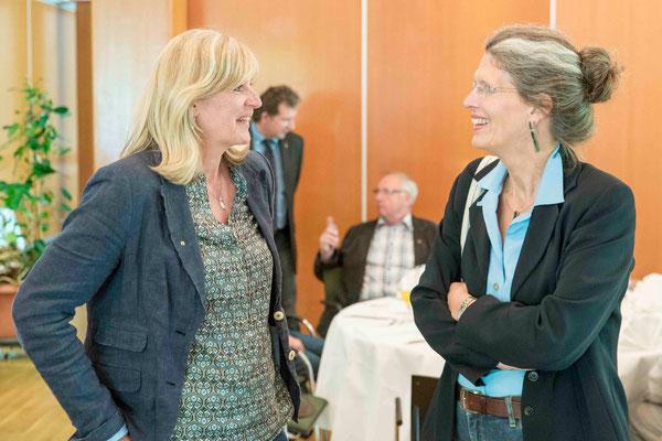 Frauenbeauftragte Melanie Friedrich und Kollegin Ute Göpel