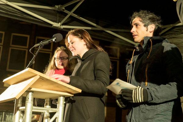 Die Organisatorinnen Susann Trohjahn (v.l.n.r.), Hannah Streicher und Helfer Sercivan Ungan